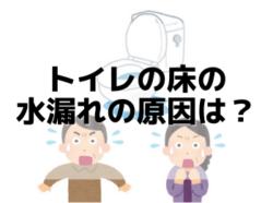 【和歌山市】トイレの床の水漏れの原因は?|和歌山市リフォームと屋根外壁塗装専門店